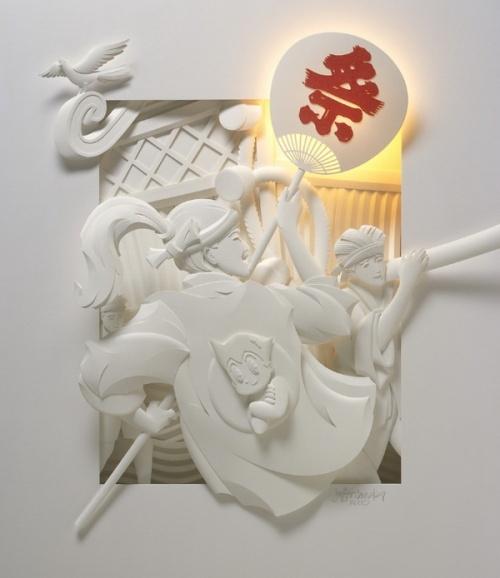 Бумажный скульптор Jeff Nichinaka (23 работ)