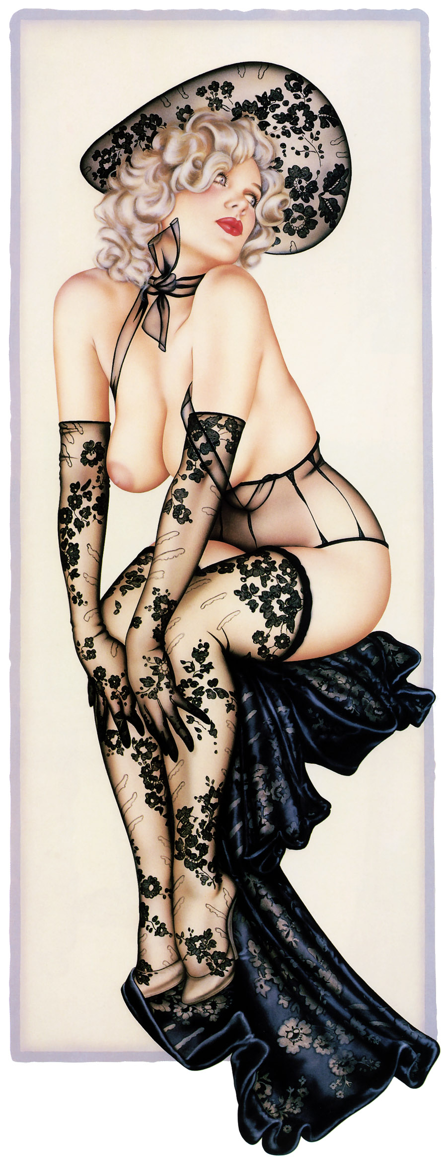 Рисованные эротик девушки 17 фотография