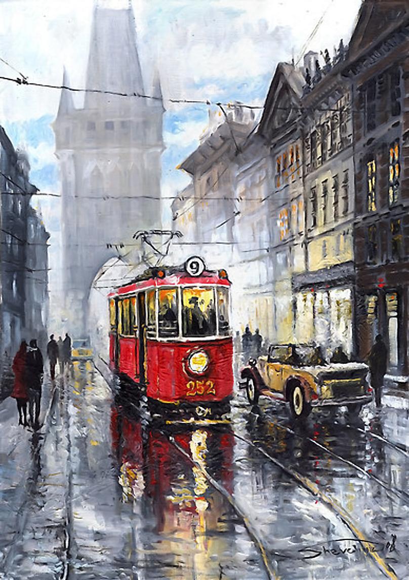 old tram prague street - photo #4