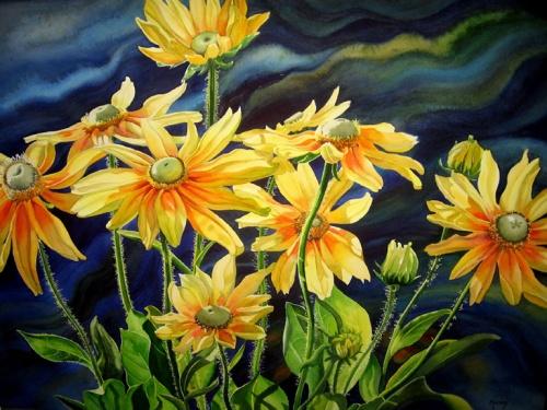 Цветочные акварели от Marney Ward (47 работ)