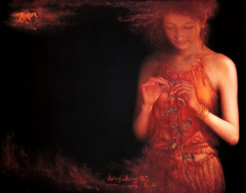 Женский образ в китайской живописи (30 работ)