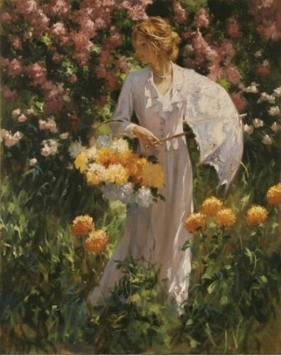 Женская красота в живописи Richard S. Johnson (76 работ)