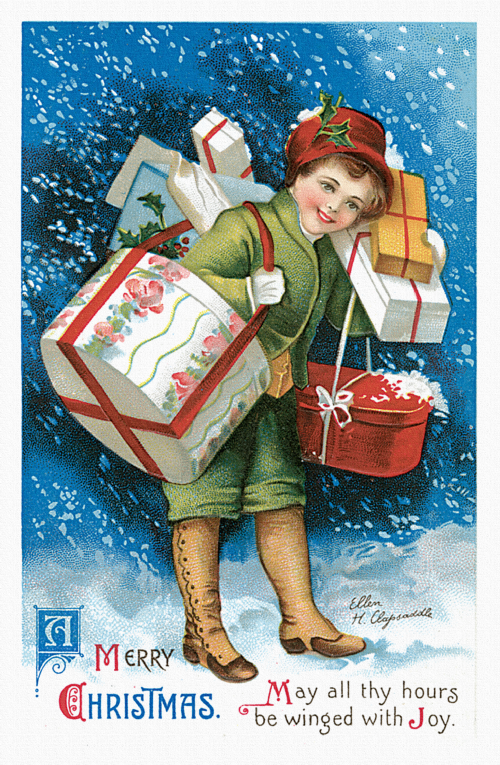 Vintage Christmas Cards Kit (14 работ)