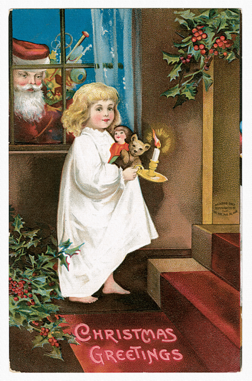 Vintage Christmas Cards Kit (14 работ)