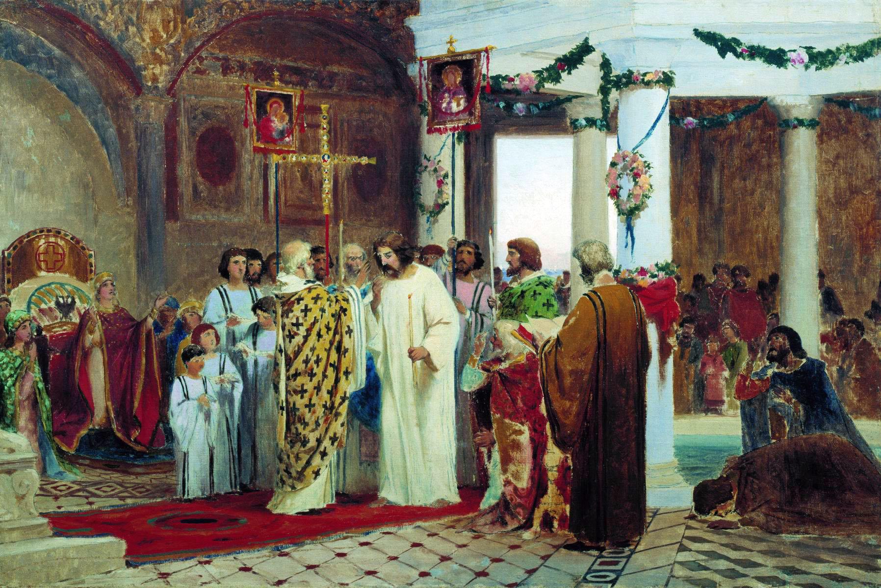 Крещение руси в картинах русских художников