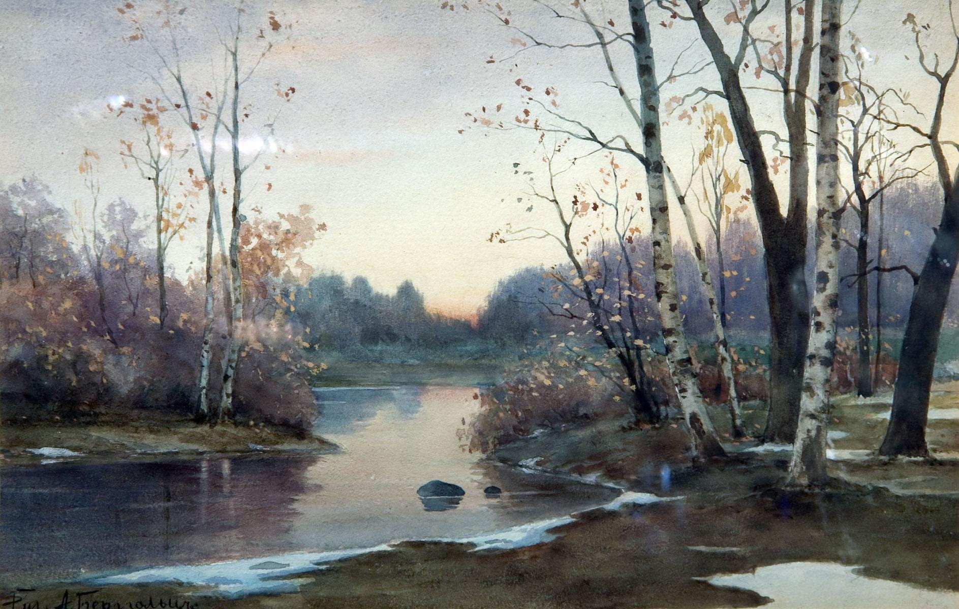 зимняя река  Стоковое фото  Burdoff 1097487
