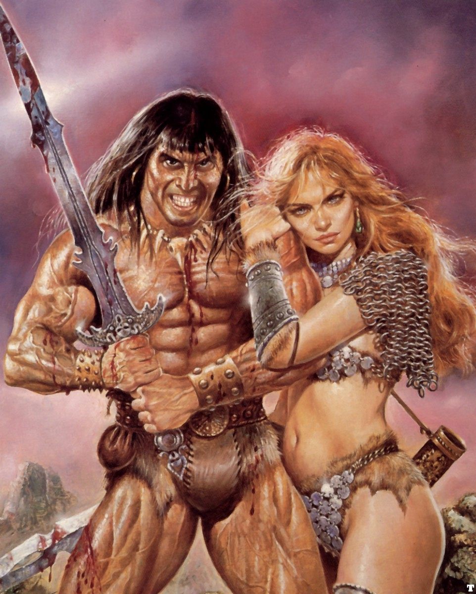 Girl fucking barbarian hentai image
