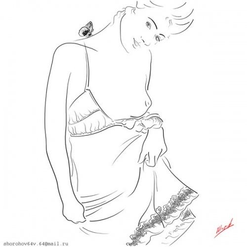 Графика Владимира Шорохова (13 работ)