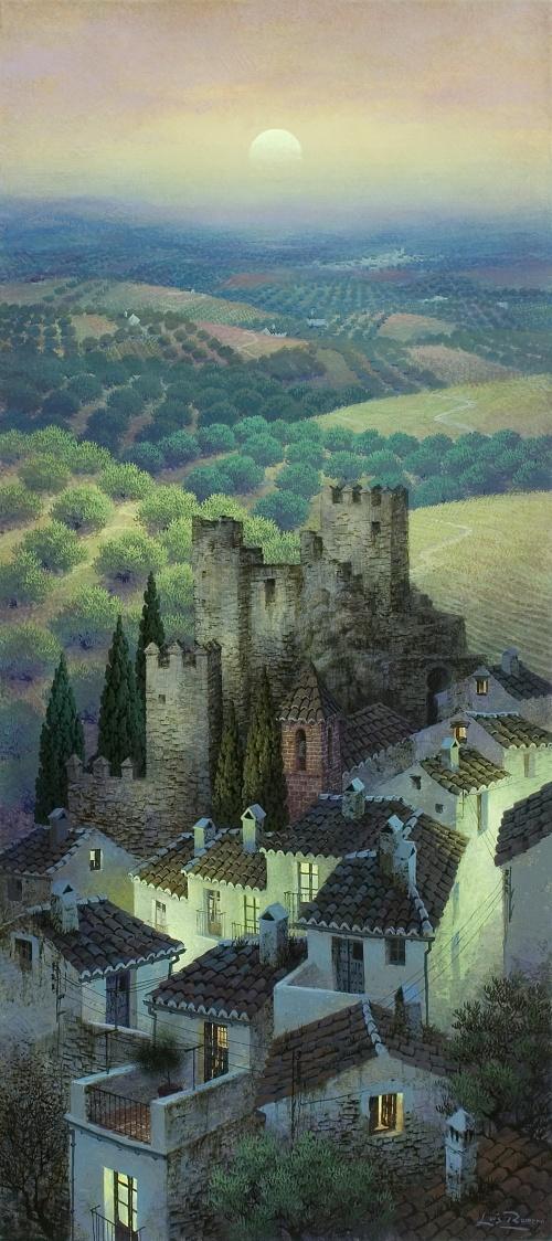 Luis Romero油画作品:迷离的西班牙夜晚 - 笑然 - xiaoran321456 的博客