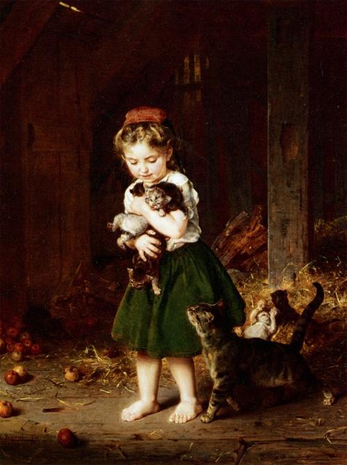 Немецкий живописец Кнаус Людвиг (Ludwig Knaus) (49 работ)