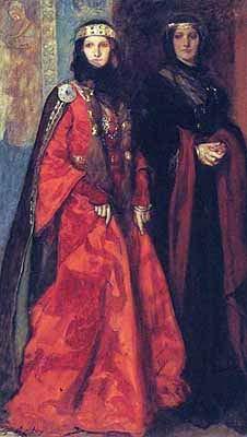 Американский живописец и иллюстратор Эдвин Остин Эбби (Edwin Austin Abbey) (150 работ)