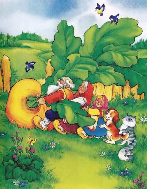 Иллюстрации к сказке Репка (8 работ)