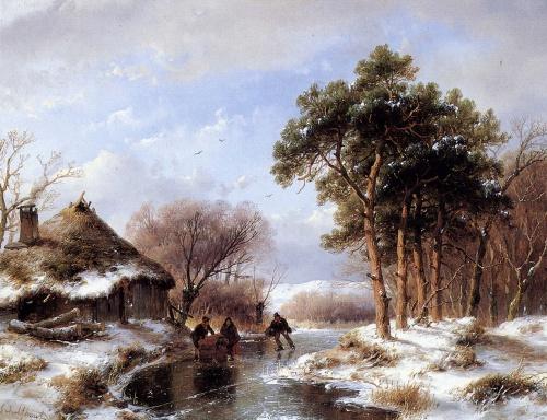 Художник Andreas Schelfhout - Живопись (18 работ)