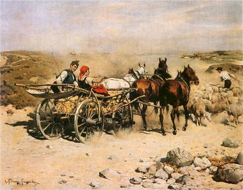 Польский художник Alfred Wierusz-Kowalski (1849- 1915) (114 работ)