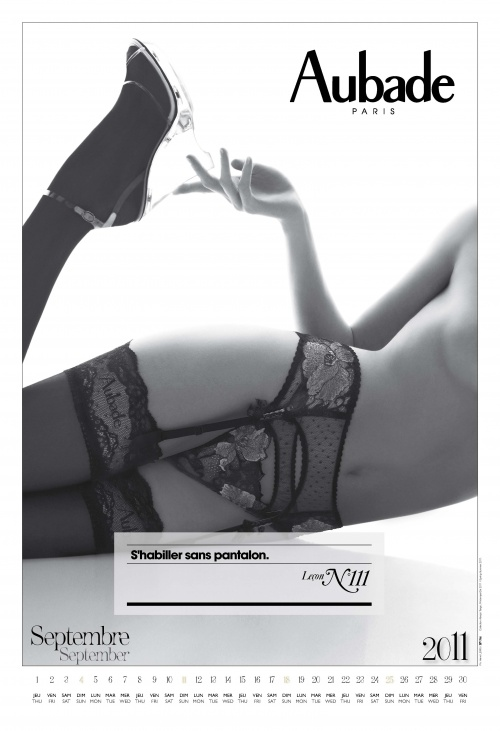 Aubade Lingerie Calendar 2011 (12 фото) (эротика)
