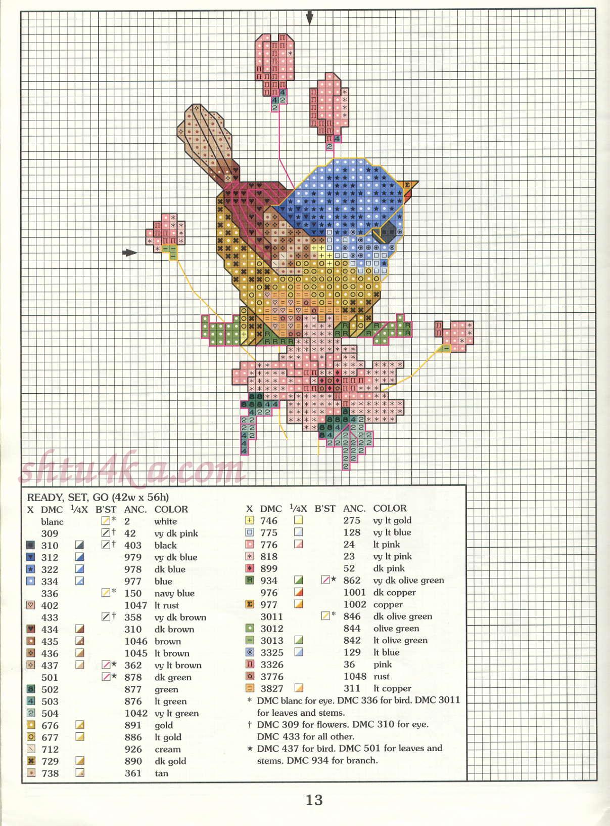 Авторские схемы для вышивки крестом 65