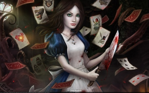 """Работы Омри Кореша на тему книги """"Алиса в стране чудес"""" (12 работ)"""