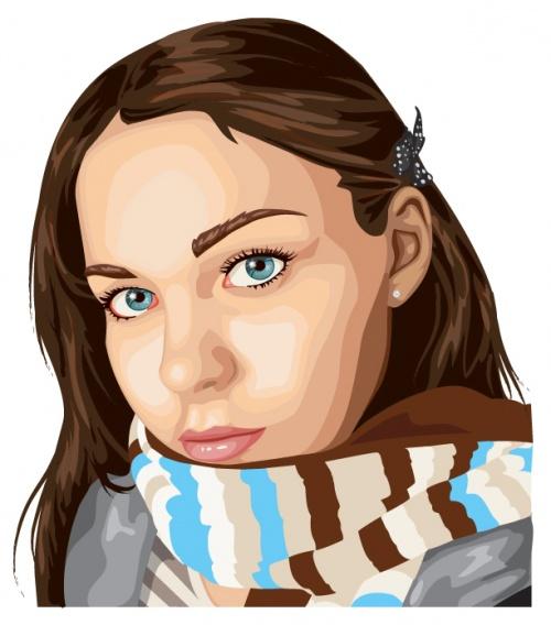 30 Photo realistic vector illustration portraits (30 работ)