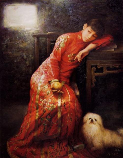 Китайский художник Zhao Chun (48 работ)