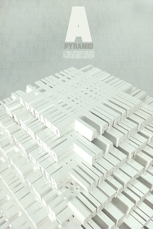 Creative 3D Typography Designs Art (59 работ)