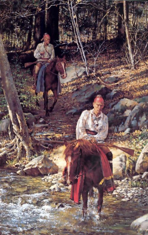 Индейцы-восточная граница-альбом Роберта Гриффина / Robert Griffing (84 работ)