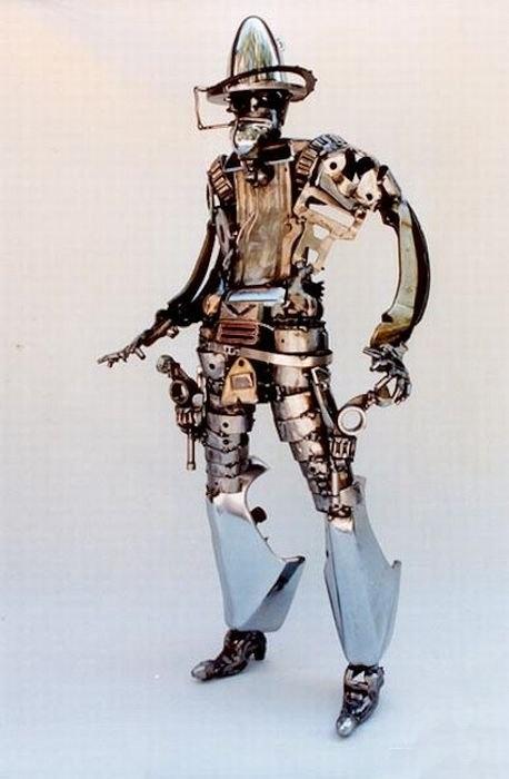 Креативные скульптуры из запчастей (51 фото)