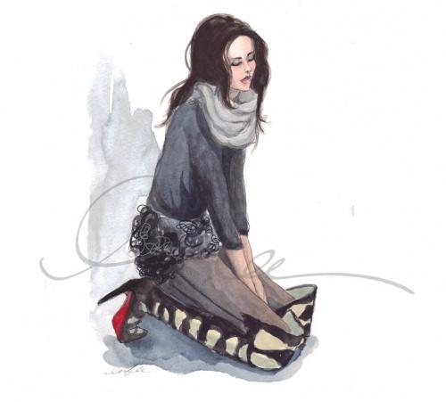 Inslee Haynes фешн-иллюстратор (73 работ)
