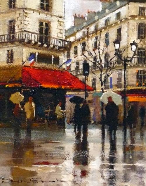 """""""Париж и дождь"""" от австралийского художника Peter Fennell (20 работ)"""