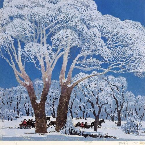 Зимний пейзаж в современной китайской живописи (31 работ)
