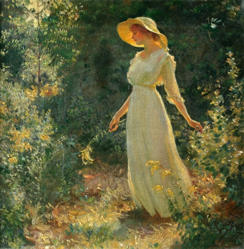 Charles Courtney Curran (American, 1861-1942) (115 работ)