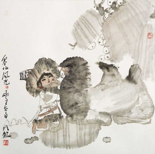 Современная китайская акварель (1135 работ)