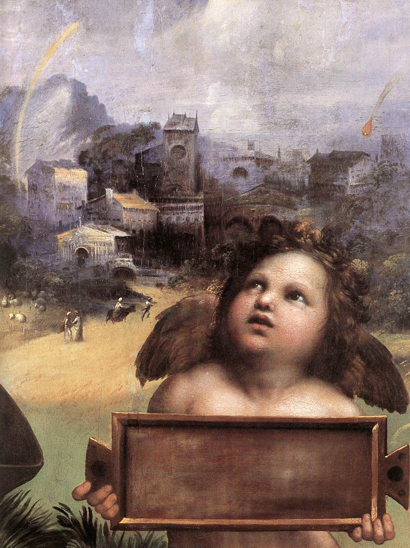 a biography of the life and painting career of rafaello sanzio Raphael biography the genius from urbino raffaelo (raphael) son of the painter giovanni santi and his wife magia ciarla was born on the 28th march or the 6th april 1483.