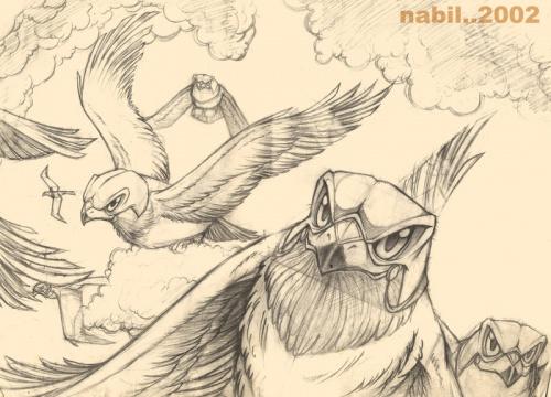 Художник-иллюстратор под ником nabillll (Египет) Старые и новые работы (75 работ)