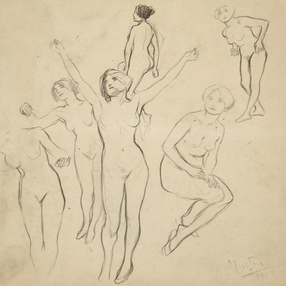 Эскизы голых женщин 22 фотография