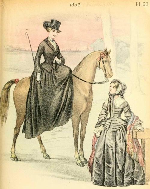 French Fashion 1829-1870 years   Французская мода 1829-1870 годов (48 работ)