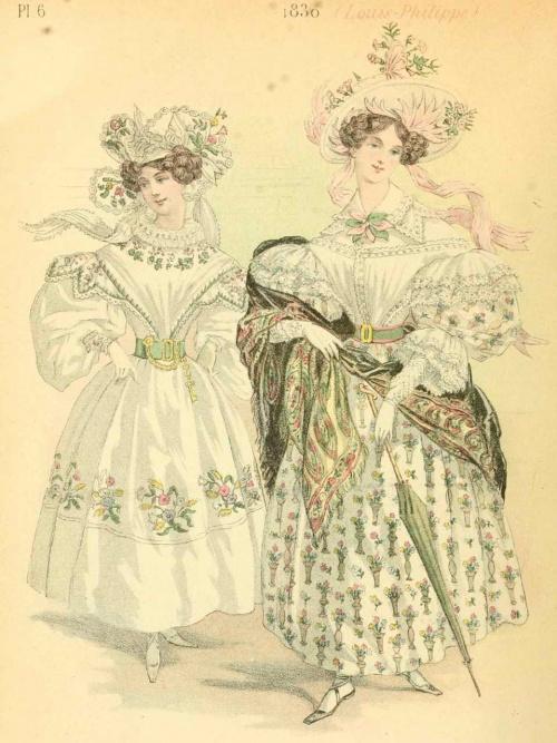 French Fashion 1829-1870 years | Французская мода 1829-1870 годов (48 работ)