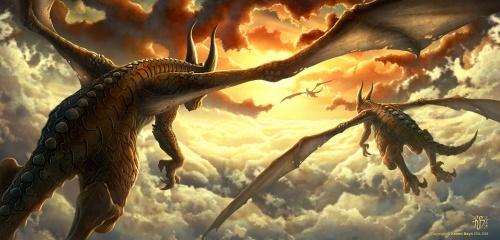 Красочные драконы иллюстратора Kerem Beyit (78 работ)