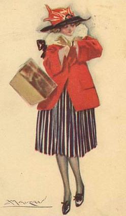 Image of woman on old postcard 4 | Женский образ на старой открытке 4 (110 работ)