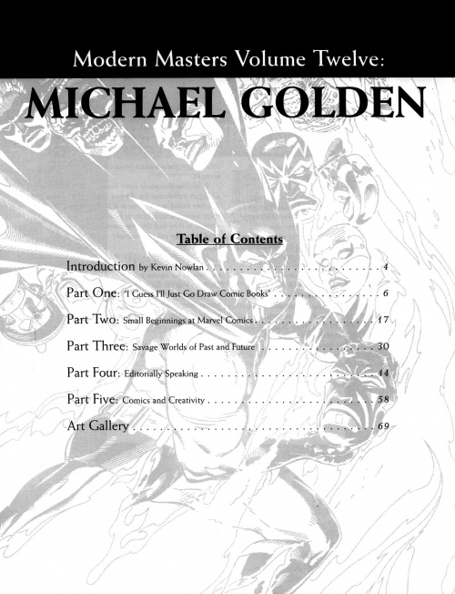 Modern Masters Volume 12: Michael Golden (121 работ)
