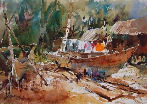 Акварели Ng Woon Lam (178 работ)