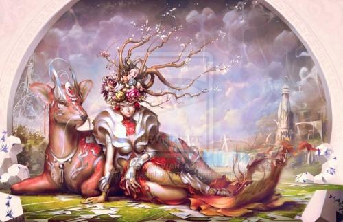 Yu Cheng Hong: фэнтези-арт работы (133 работ)