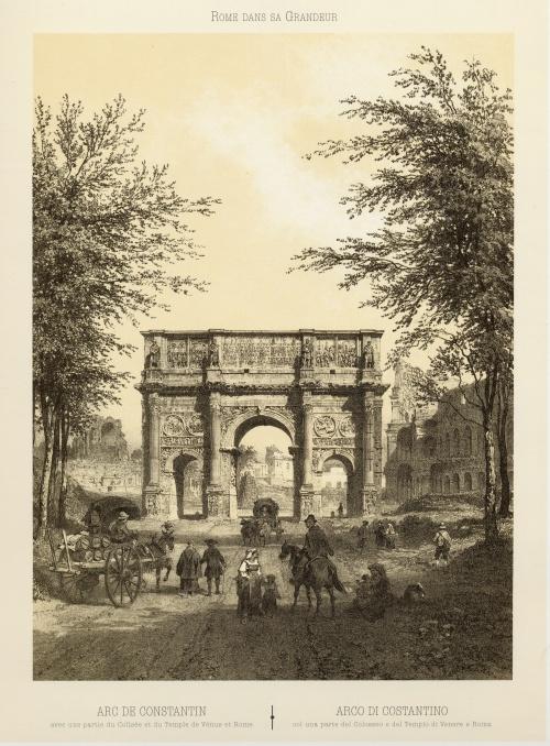 Виды Рима 19 век - гравюры (12 работ)