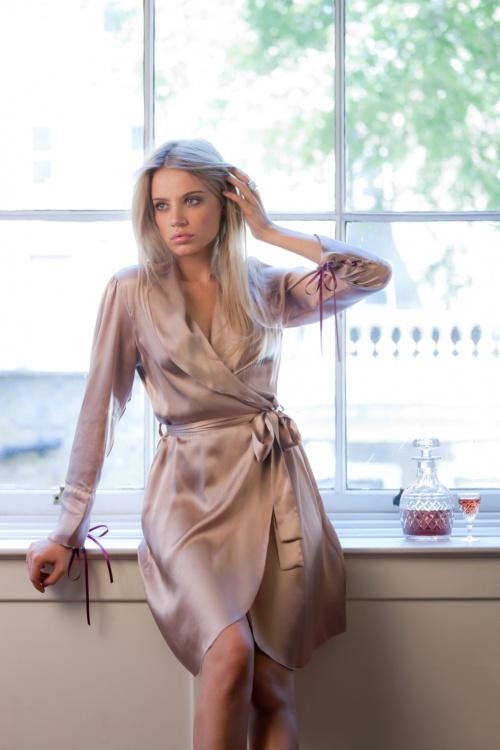 Xenia Tchoumitcheva - Luxury Silk Lingerie & Loungewear (10 фото)