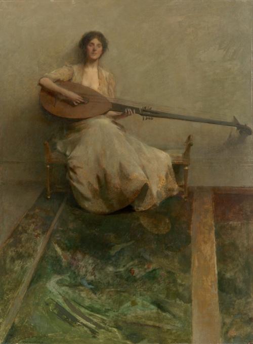 Thomas Wilmer Dewing (1851-1938) (122 работ)