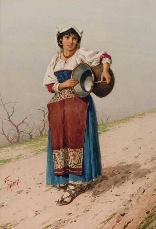 Итальянский художник Filippo Indoni (1842 – 1908) (71 работ)