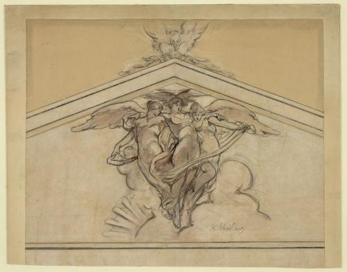 Фрески Библиотеки Конгресса США. Часть 2. Walter Shirlaw (1838-1909) (22 работ) (1 часть)