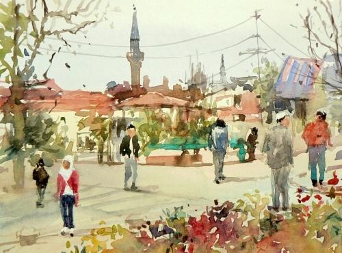 Акварельный городок Mineke Reinders (259 работ)