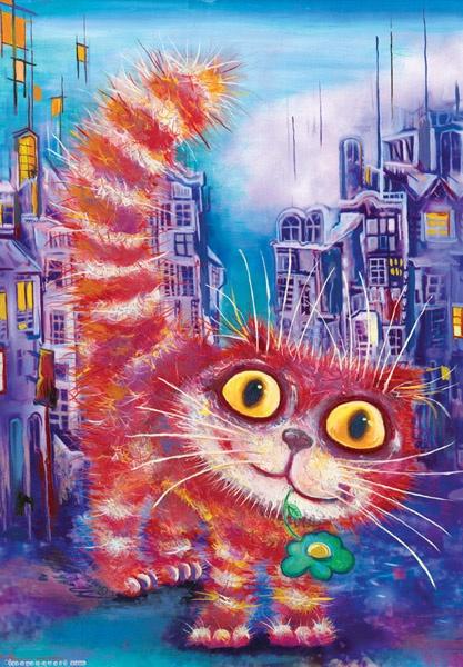 Коты Бориса Касьянова (44 работ)
