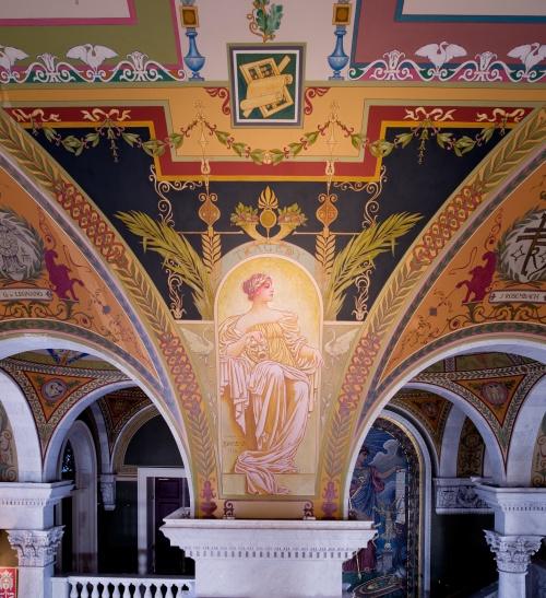 Фрески Библиотеки Конгресса США. Часть 1. George Randolph Barse (1861-1938) (12 работ) (2 часть)