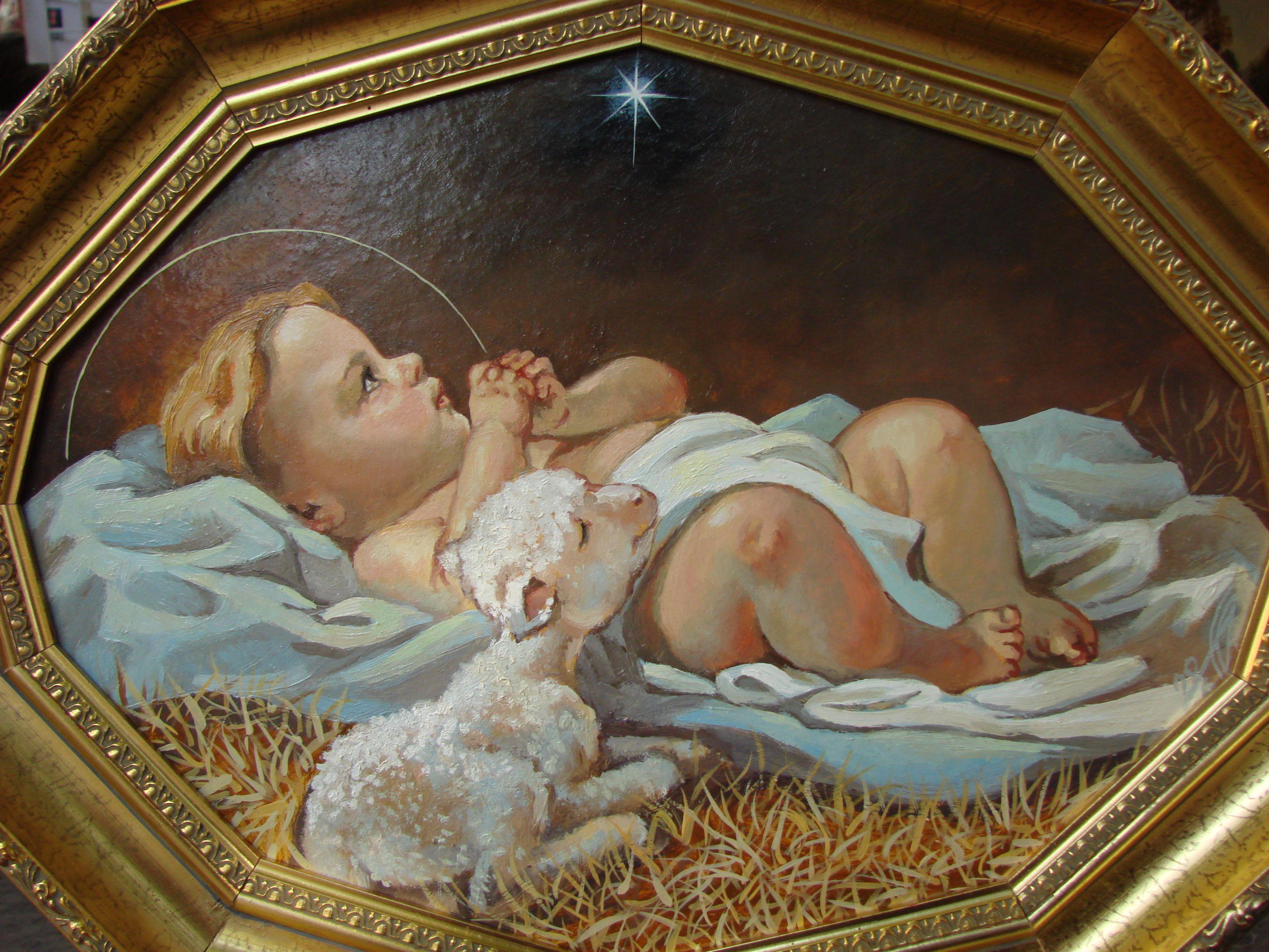 картинка младенец христос него оторвалось переднее